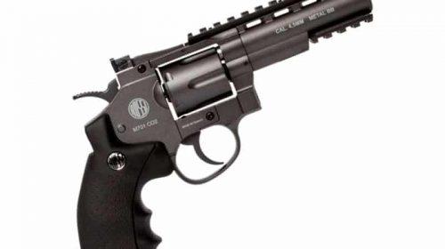 Kit Revólver Airgun Rossi M701 Full Metal Co2 4,5mm