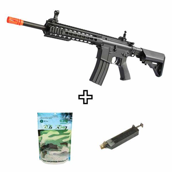 Rifle Airsoft Cyma M4A1 CM515S Custom ET AEG 6mm Kit