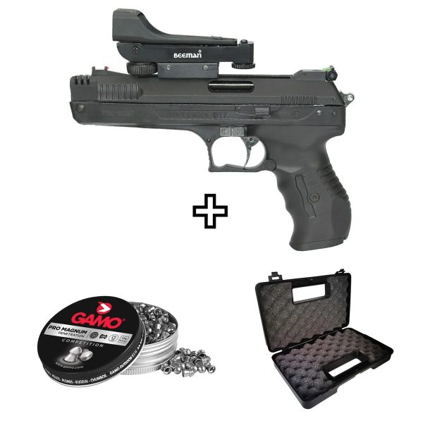 Pistola Airgun Beeman 2006 5,5mm com Red Dot Kit
