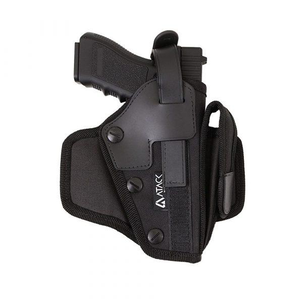 Coldre Tático Police Universal para Pistolas + Porta Magazine