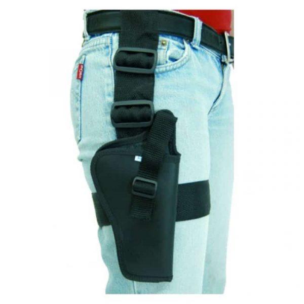 "Coldre de perna Robocop para Pistola e Revólver de até 4"""