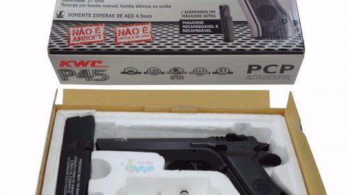 Pistola de Pressão Jericho P45 Baby Desert Eagle PCP e CO2