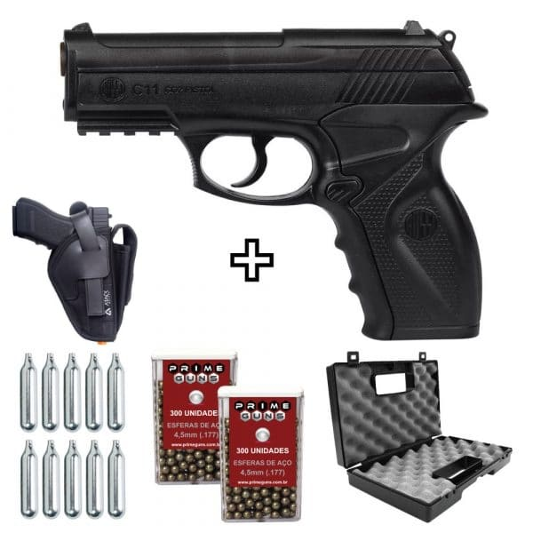 pistola-airgun-c11-45mm-co2-wingun-rossi-coldre