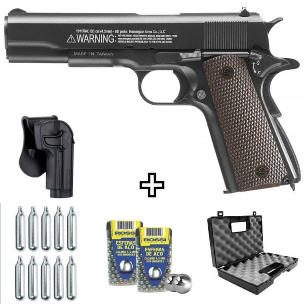 Pistola Airgun Remington 1911 RAC CO2 4,5mm + Coldre