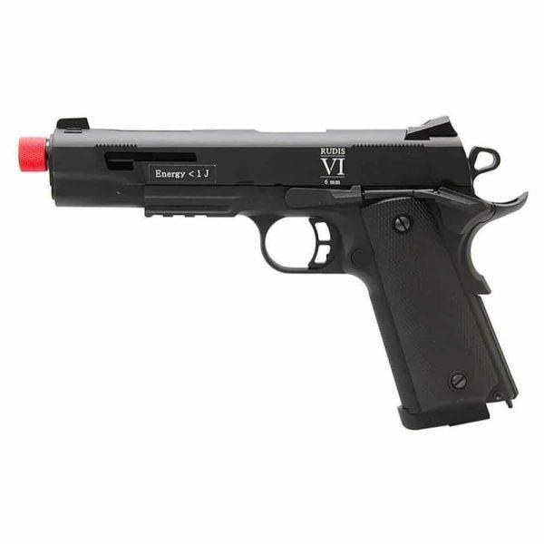 Pistola Airsoft 1911 Rudis Secutor VI GBB Blowback + Coldre