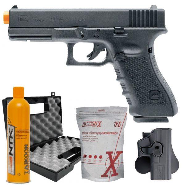 Pistola Airsoft Glock 17 G4 GBB Umarex + Coldre