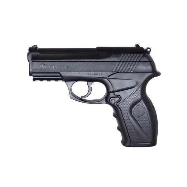 Pistola C11 6mm Airgun Co2 Esfera de Aço Rossi + Coldre