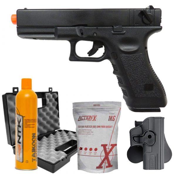 Pistola Army Glock G18c R18 GBB Full Auto + Coldre