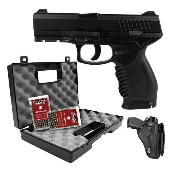 Pistola Airgun KWC 24/7 Spring 4,5mm Full Metal Kit