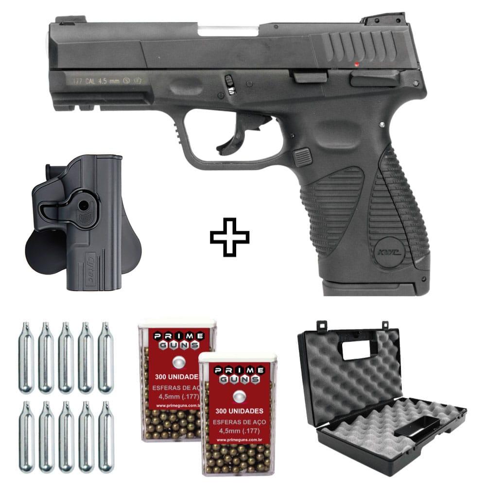 Pistola Airgun 24/7 G2 Co2 Blowback 4,5mm KWC + Coldre