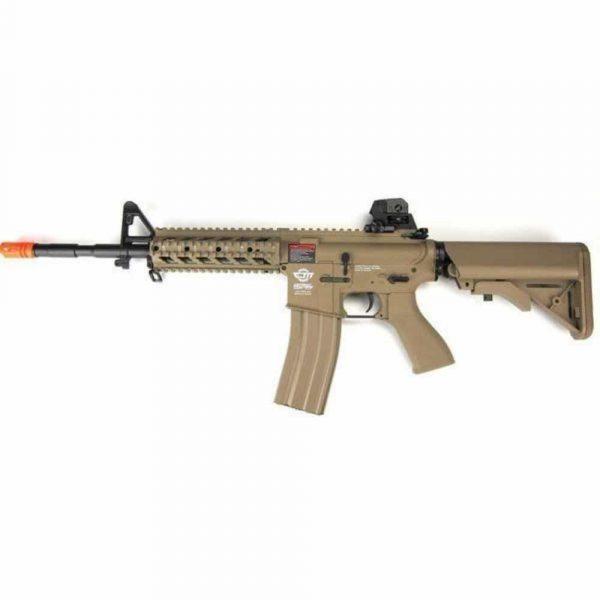 Rifle Airsoft G&G CM16 Raider L Desert Elétrico AEG 6mm