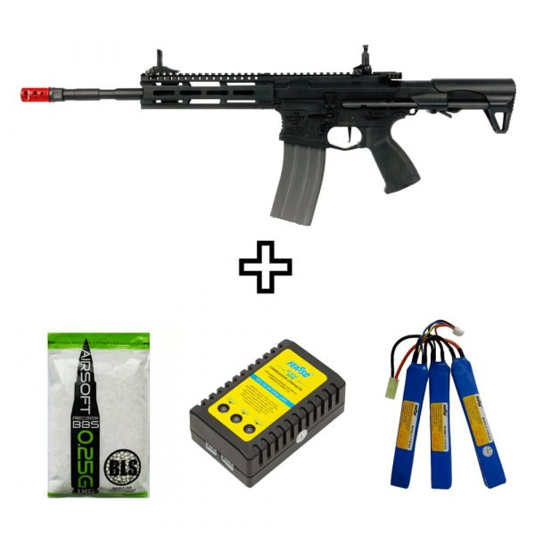Rifle Airsoft M4 CM16 Raider 2.0 G&G AEG 6mm BBs e Bateria