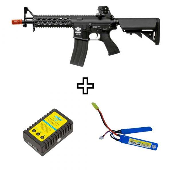 Rifle Airsoft G&G CM16 Raider Elétrico AEG 6mm Kit