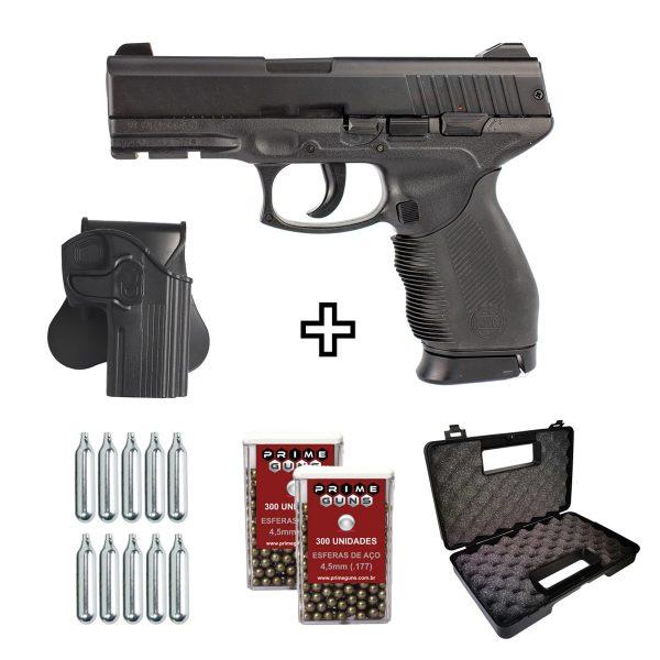 Pistola de Pressão KWC 24/7 CO2 4,5mm ABS + Coldre