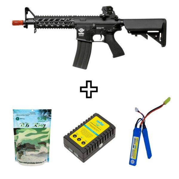 Rifle Airsoft G&G CM16 Raider Elétrico AEG 6mm BBs e Bateria