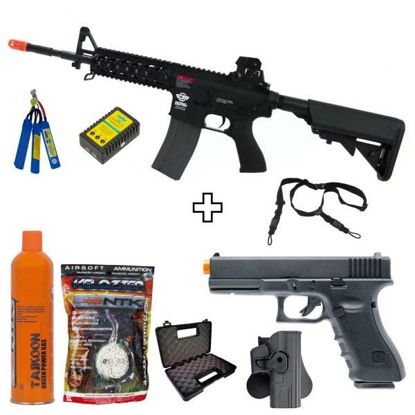 Combo Cm16 Raider-L AEG + Glock 17 Gen4 GBB Umarex