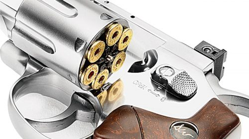 Dan Wesson 8″ Cromado Revólver Co2 4,5mm Full Metal + Capa + Cartuchos
