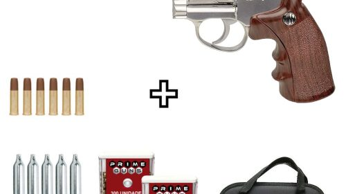 Revólver Airgun Rossi W702s Cromado 6″ Co2 4,5mm + Capa