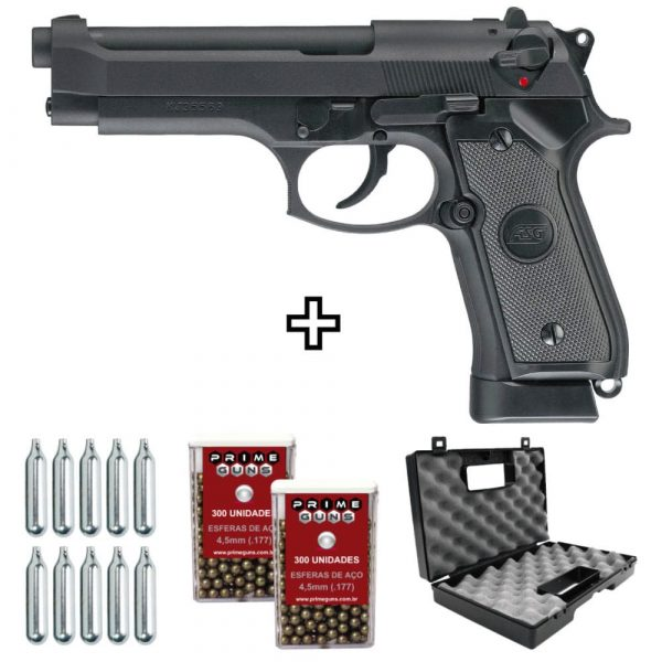 Pistola Beretta ASG X9 Co2 4,5mm Blowback Full Metal + Maleta