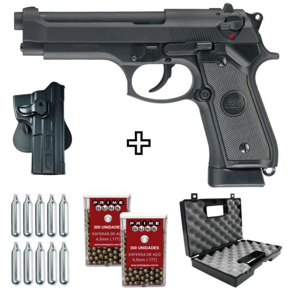 Pistola Beretta ASG X9 Co2 4,5mm Blowback Full Metal + Coldre