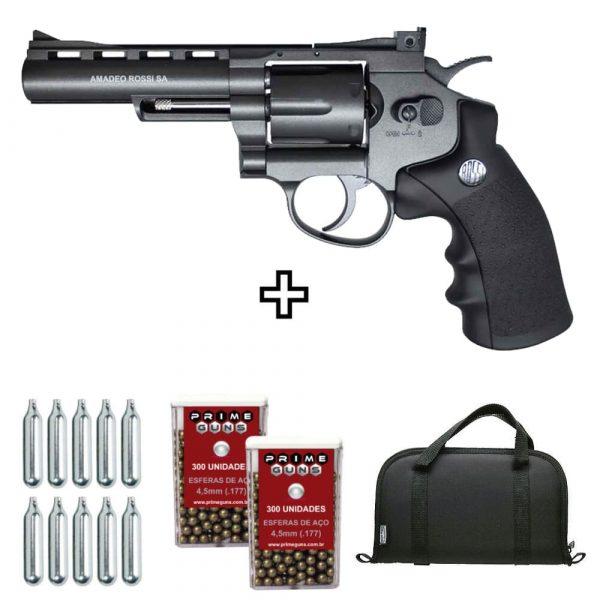 Revólver Rossi M701 Full Metal Co2 4,5mm + Case