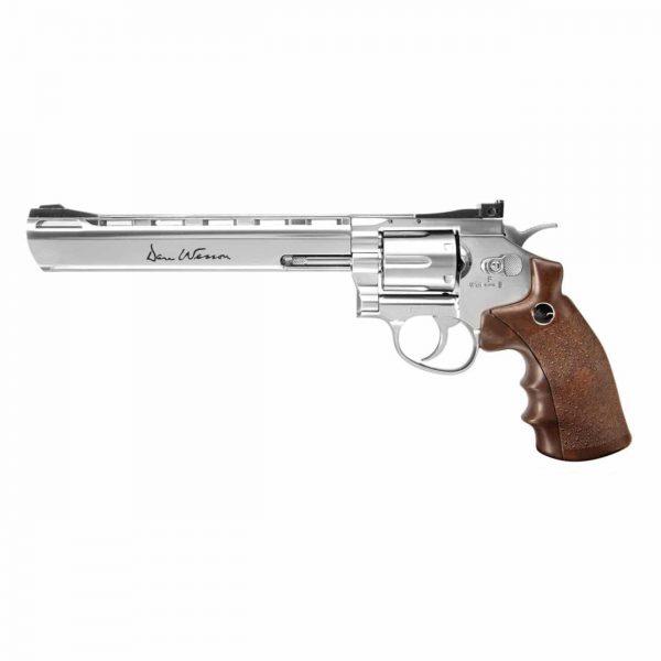 Revólver Dan Wesson 8″ Cromado Co2 4,5mm Metal