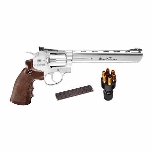 Dan Wesson 8″ Cromado Revólver Co2 4,5mm Full Metal