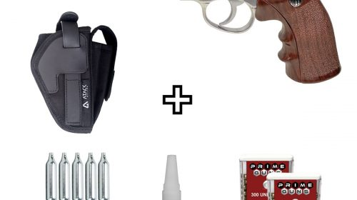 Revólver Airgun Rossi W702s Cromado 6″ Co2 4,5mm + Coldre