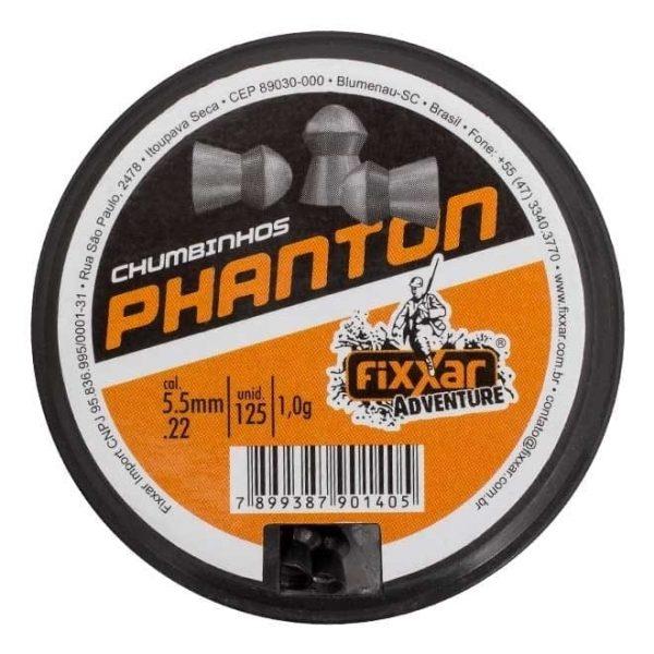 Chumbinho Fixxar Phanton 5.5mm .22 125unid
