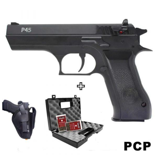 Pistola Ar Pré Comprimido PCP P45 Airgun Rossi Kit