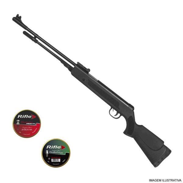Carabina de Pressão Fixxar Nitro Black 5,5mm .22 + Chumbinhos