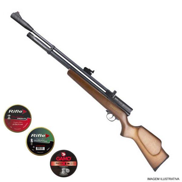 Carabina PCP Beeman 1338 Madeira 5,5mm .22 + Chumbinhos