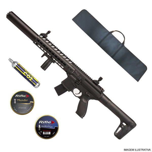 Rifle Sig Sauer MCX CO2 Chumbinho 4,5mm + Capa