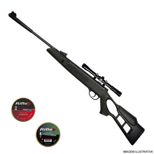 Carabina de Pressão Hatsan Striker Edge 5,5mm .22 + Luneta