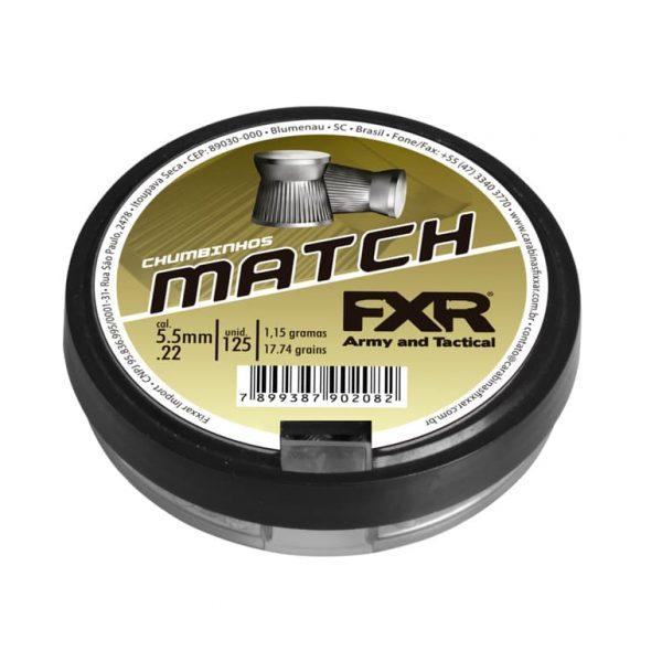 Chumbinho Fixxar Match 5.5mm .177 125unid
