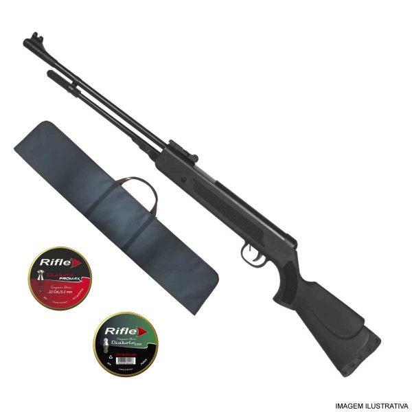 Carabina de Pressão Fixxar Nitro Black 5,5mm .22 + Capa