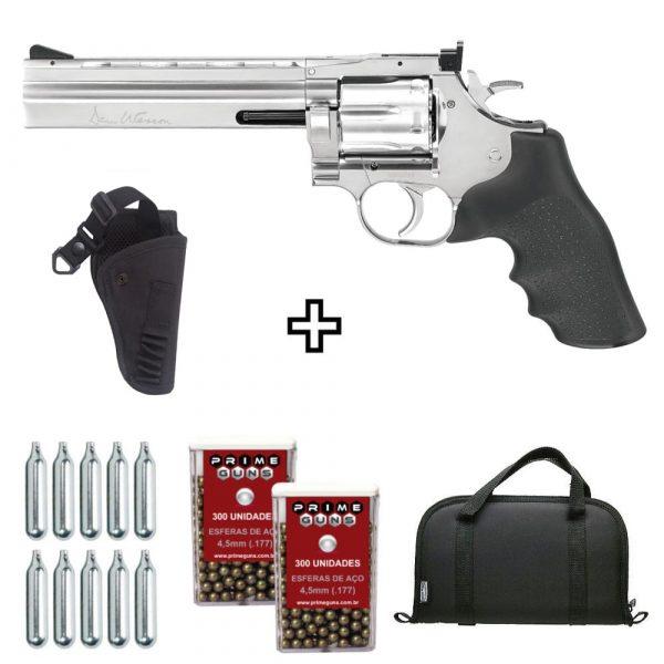Revólver Airgun Dan Wesson 715 6″ Cromado 4,5mm + Coldre