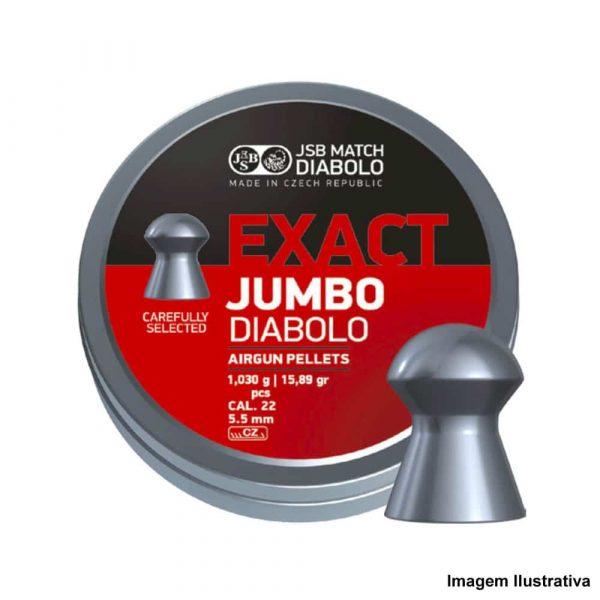 Chumbinho JSB Exact Jumbo 5,5mm .22 250un Diabolô