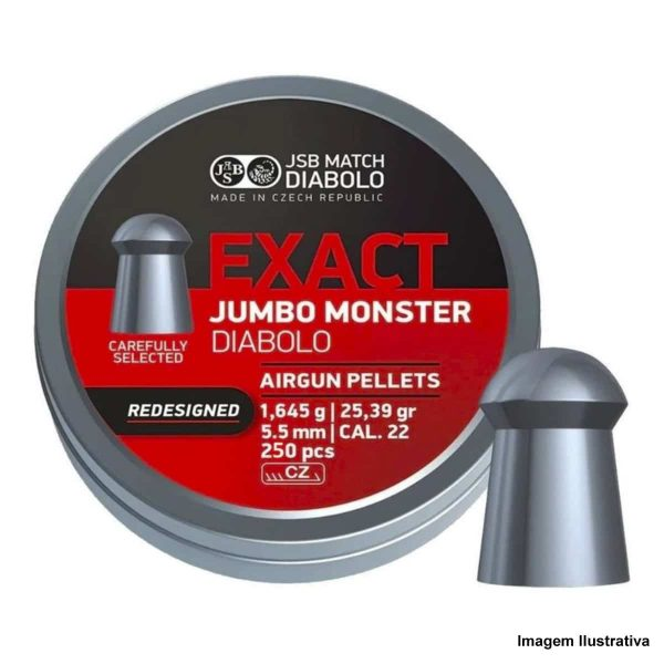 Chumbinho JSB Exact Jumbo Monster 5,5mm .22 200un