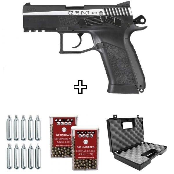 Pistola CZ 75 P07 Duty Dual Tone ASG CO2 4,5mm Kit