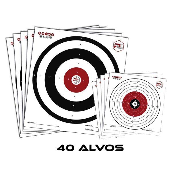 40 Alvos Sortidos Prime Guns Tiro Esportivo