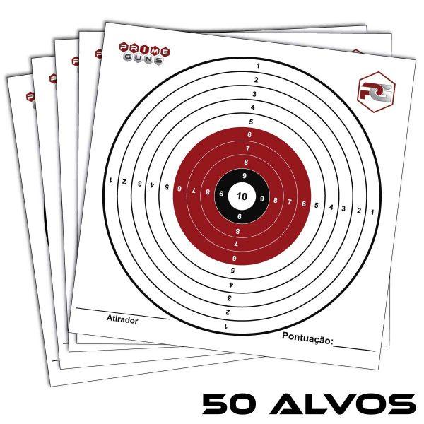 50 Alvos 14,5 x 14,5 Olímpico Cartão Prime Guns Tiro Esportivo