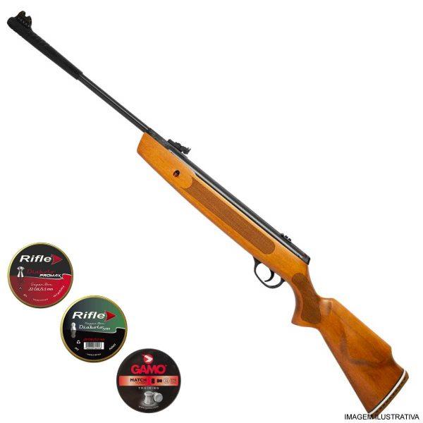 Carabina Pressão Hatsan Striker 1000x 5,5mm .22 + Chumbinhos