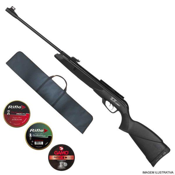 Carabina Gamo Black 1000 IGT 5,5mm .22 + Capa
