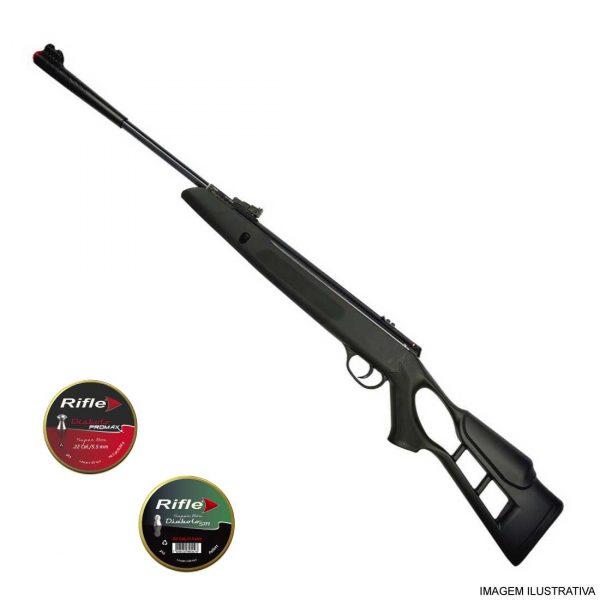 Carabina Hatsan Striker Edge Gás Ram 5,5mm + Chumbinhos