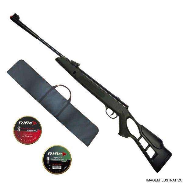 Carabina Hatsan Striker Edge Gás Ram 5,5mm + Capa
