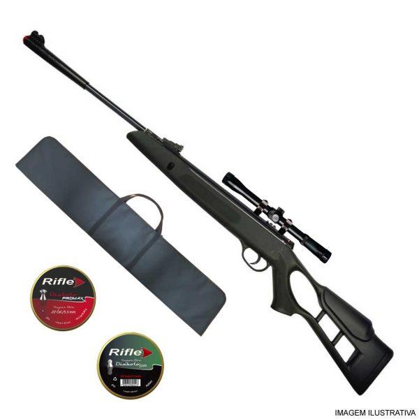 Carabina Hatsan Striker Edge Gás Ram 5,5mm + Luneta + Capa