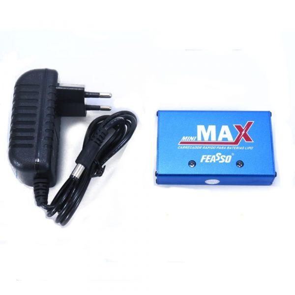 Carregador Compacto de Bateria Lipo para Airsoft Mini Max Feasso