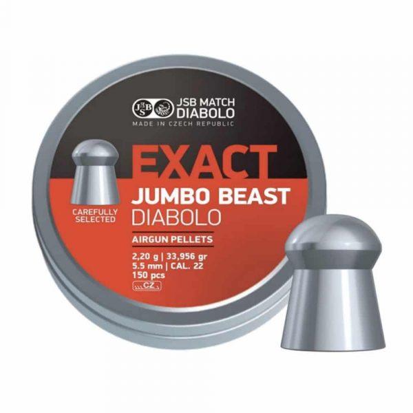 Chumbinho JSB Exact Jumbo Beast Diabolo 5,5mm .22 150un