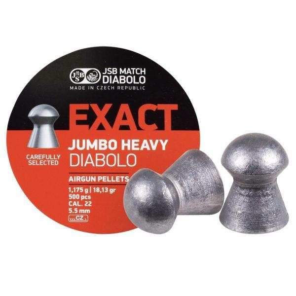 Chumbinho JSB Exact Jumbo Heavy 5,5mm .22 250un